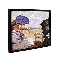 ArtWall Claude Monet's The Beach Gallery Wrapped Floater Framed Canvas, 18 by 24""