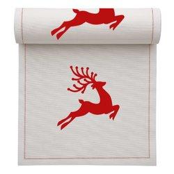 Ecru with Red Reindeer Tear-Off Napkins