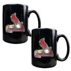 MLB St. Louis Cardinals 2-Piece Ceramic Mug Set - Black