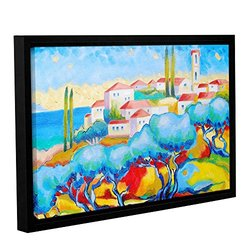 Susi Franco's Greece By the Sea Wrapped Floater-Framed Canvas - 16 by 24""
