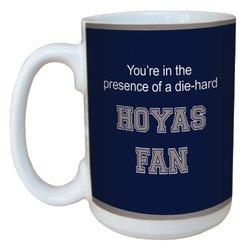 Tree-Free Greetings lm44716 Hoyas College Basketball Ceramic Mug with Full-Sized Handle, 15-Ounce