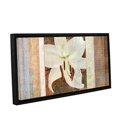 """ArtWall Cora Niele's Gallery Wrapped Framed Canvas - 12"""" X 24"""" - Ivory"""