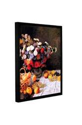 "ArtWall Claude Monet's Flowers & Fruit Floater Framed Canvas - 14""x18"""