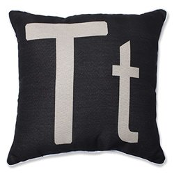 Pillow Perfect Initial 'T' Throw Pillow - 18""