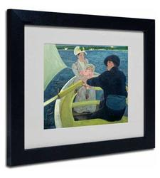 Trademark Fine Art The Boating Party 1893-94 by Mary Cassatt with Black Frame Artwork, 16 by 20-Inch