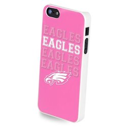 Forever Collectibles NFL Team Pink Logo iPhone 5/5S Hard Case - Retail Packaging - Philadelphia Eagles