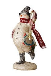 Your Hearts Delight Snowman Glittered with Wreath, 10-1/2 by 4-1/4-Inch