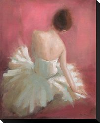 "Ballerina Dreaming 1 by Patrick Mcgannon Stretched Canvas Print 20"" x 17"""