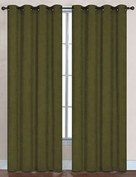 "RT Designers Collection Hudson Window Curtain - Sage - 56"" x 84"" -Set of 2"