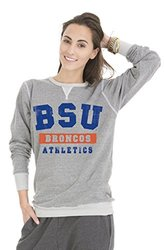 NCAA Boise State Tri-Blend Women's Crew Sweatshirt - Grey - Size: Large