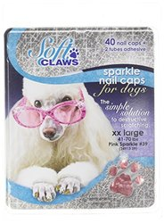 Canine Soft Claws Nail Caps, XX-Large, Pink