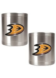 Great American NHL 2 Pc Stainless Steel Can Holder Set