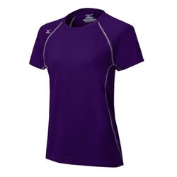 Mizuno Women's Youth Balboa 3.0 Shorts Sleeve Jersey, Purple/Grey, Medium