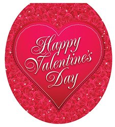 Toilet Tattoos Valentine's Day Toilet Lid Applique (TT-V214-R)