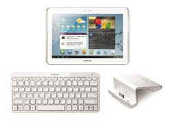 "Samsung Galaxy Tab 2 10.1"" Tablet 16GB White w/ Bluetooth Keyboard & Dock"