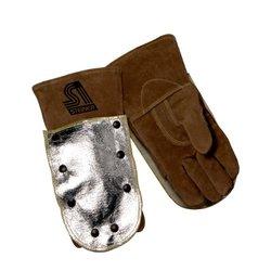 Steiner 5800L Welding Gloves, Brown Split Cowhide, Foam Lined, 8-Snaps For Heat Shield 58AKN, Large