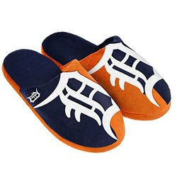 MLB Detroit Tigers Split Color Slide Slipper - Blue - Size: Small