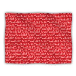 "Kess InHouse Holly Helgeson ""Glass Half-Full Red White"" Blanket, 60 by 50-Inch"