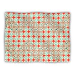 "Kess InHouse Catherine McDonald ""Traveling Caravan Red Pattern"" Blanket, 60 by 50-Inch"