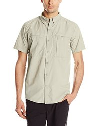 White Sierra Men's Kalgoorlie II Short Sleeve Shirt - Sand - Size: Large
