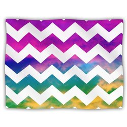 "Kess InHouse Beth Engel ""Lucky Chevron"" Blanket, 60 by 50-Inch"