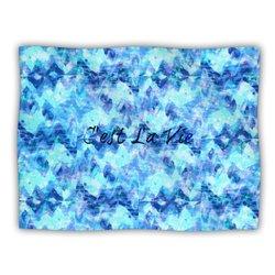 """Kess InHouse Ebi Emporium """"C'est La Vie Revisited Blue Aqua"""" Blanket, 60 by 50-Inch"""