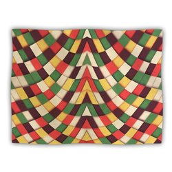 "Kess InHouse Danny Ivan ""Rastafarian Tile"" Blanket, 60 by 50-Inch"