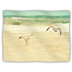 """Kess InHouse Robin Dickinson """"Karate Kid Pose"""" Art Object Fleece Blanket, 60 by 50-Inch"""