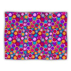 """Kess InHouse Julia Grifol """"My Colourful Circles"""" Blanket, 60 by 50-Inch"""
