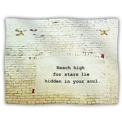 "Kess InHouse Robin Dickinson ""Reach High"" Brick Wall Fleece Blanket, 60 by 50-Inch"
