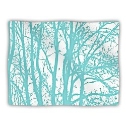 "Kess InHouse Monika Strigel ""Mint Trees"" Fleece Blanket, 60 by 50-Inch"