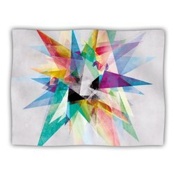 """Kess InHouse Mareike Boehmer """"Colorful"""" Rainbow Abstract Fleece Blanket, 60 by 50-Inch"""