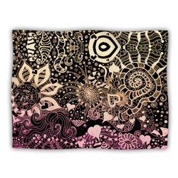 """Kess InHouse Monika Strigel """"Neptunes Garden II"""" Fleece Blanket, 60 by 50-Inch"""