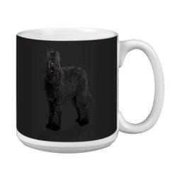 Tree Free Greetings XM29012 I Heart Black Russian Terriers Artful Jumbo Mug, 20-Ounce