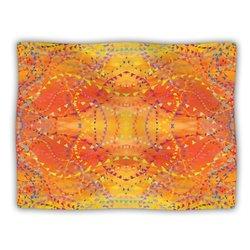 "Kess InHouse Nikposium ""Sunrise"" Orange Gold Fleece Blanket, 60 by 50-Inch"
