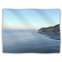 "Kess InHouse Robin Dickinson ""Sand Surf Sunshine"" Beach Fleece Blanket, 60 by 50-Inch"