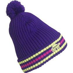 FU-R Headwear - Men's Race Team Striped Slouchy Pom Hat, Purple, One Size