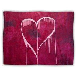 """Kess InHouse Steve Dix """"Miss You"""" Fleece Blanket, 60 by 50-Inch"""