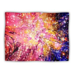 """Kess InHouse Ebi Emporium """"Out There Pink Yellow"""" Blanket, 60 by 50-Inch"""