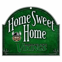 NCAA Cleveland State Vikings 10-by-11 Arch Wood Sign