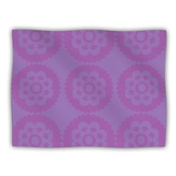 "Kess InHouse Nicole Ketchum ""Moroccan Lilac"" Fleece Blanket, 60 by 50-Inch"