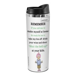 Tree-Free Greetings TT01856 Aunty Acid 18-8 Double Wall Stainless Artful Tumbler, 14-Ounce, At Home