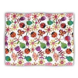 "Kess InHouse Jane Smith ""Garden Floral Plants Bugs"" Blanket, 60 by 50-Inch"