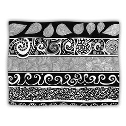 "Kess InHouse Pom Graphic Design ""Tribal Evolution"" Fleece Blanket, 60 by 50-Inch"