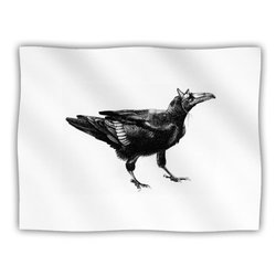 "Kess InHouse Sophy Tuttle ""Raven"" Fleece Blanket, 60 by 50-Inch"