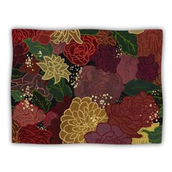 "Kess InHouse Jaidyn Erickson ""Flowers"" Blanket, 60 by 50-Inch"
