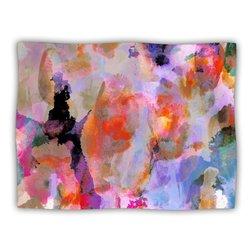 "Kess InHouse Nikki Strange ""Painterly Blush"" Fleece Blanket, 60 by 50-Inch"