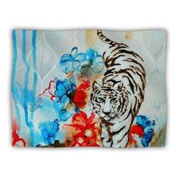 "Kess InHouse Sonal Nathwani ""Tiger"" Fleece Blanket, 60 by 50-Inch"