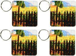 Stalks of Corn Growing Key Chains - 2.25 x 4.5 inches (4-Pack)