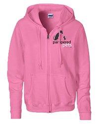 Women's 8oz Heavy Blend Full Zippered Hoodie Sweatshirt - Azalea - Size: M